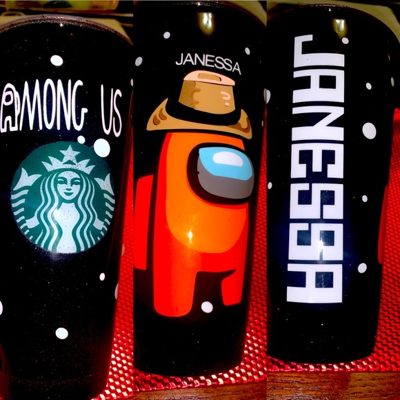 Venti Starbucks cup custom theme among us